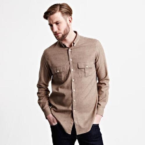 Webb Plain Shirt - Button Cuff by Thomas Pink in Million Dollar Arm