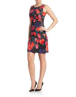 Sleeveless Floral-Print Sheath Dress by Ivanka Trump in Lady Dynamite
