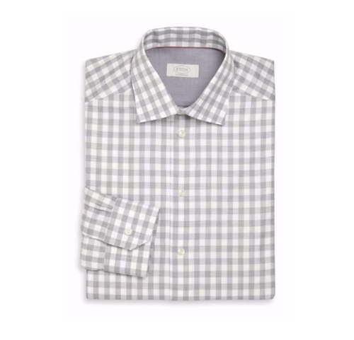Gingham Cotton Dress Shirt by Eton of Sweden in Modern Family - Season 8 Episode 3
