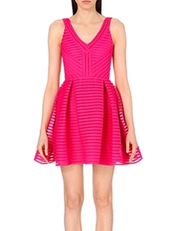 Rayure Striped-Mesh Dress by Maje in Arrow