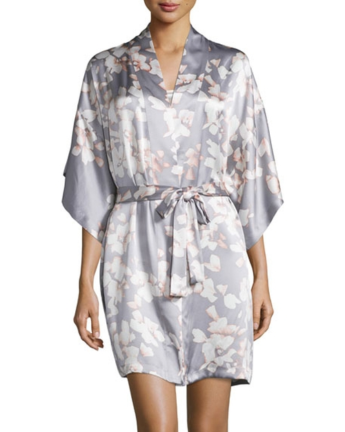 Floral-Print Wrap Robe by Natori Azalea in Mistresses - Season 4 Episode 4