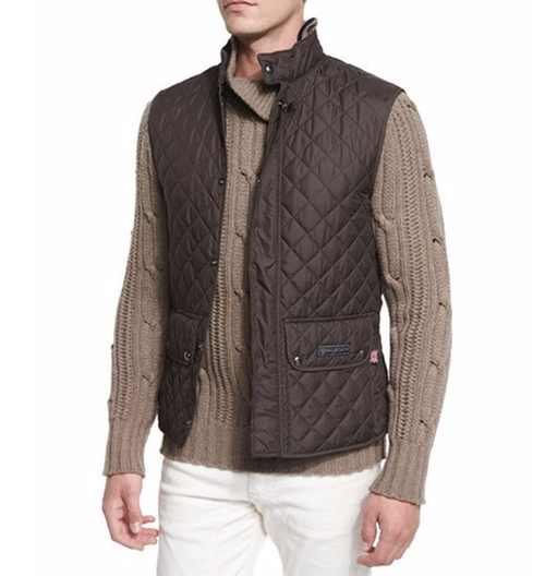 Lightweight Quilted Tech Vest by Belstaff in The Ranch - Season 2 Episode 5