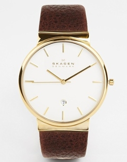 Leather Strap Watch by Skagen in Hot Pursuit