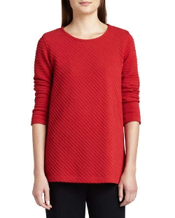 Ottoman Knit 3/4-Sleeve Tunic by Caroline Rose in The Visit