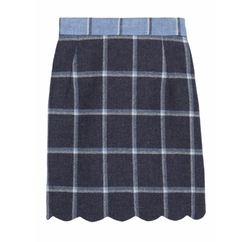 Coco Checked Wool Mini Skirt by House Of Holland in Supergirl
