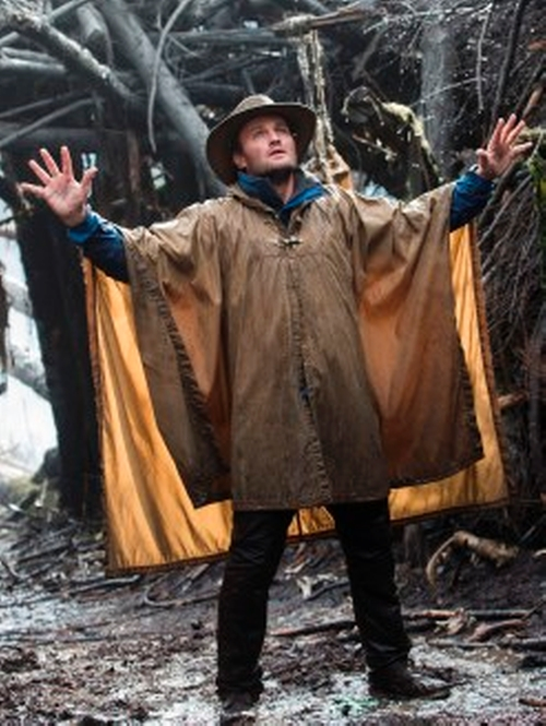 Custom Made Filson Waxed Cotton Poncho by Melissa Bruning (Costume Designer) in Dawn of the Planet of the Apes