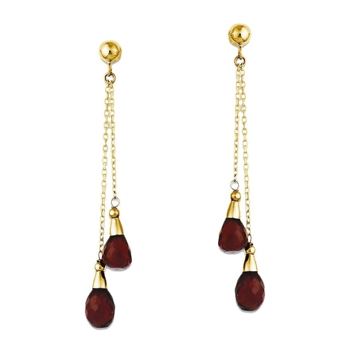 Pear Shape Garnet Earrings by GemAffair in Confessions of a Shopaholic