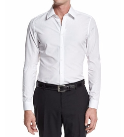 Basic Slim-Fit Woven Dress Shirt by Gucci  in Rosewood