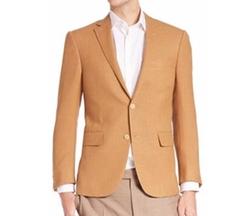 Wool, Silk & Linen Sportcoat by Corneliani in Rosewood