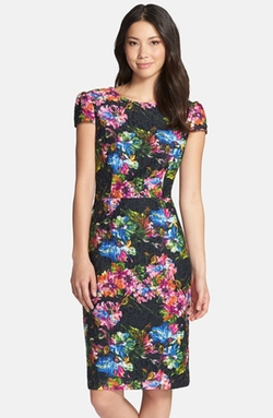 Floral Print Lace Sheath Dress by Betsey Johnson in The Walk