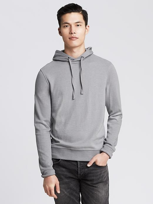 Micro-Stripe Double-Knit Hoodie by Banana Republic in Secret in Their Eyes