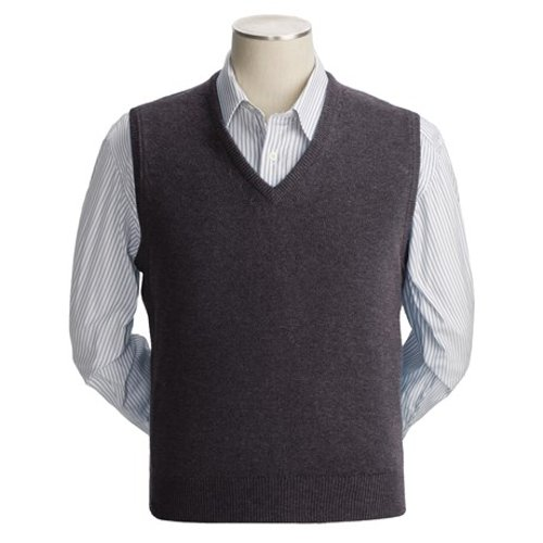 Scottish Cashmere Vest by Johnstons of Elgin in Couple's Retreat