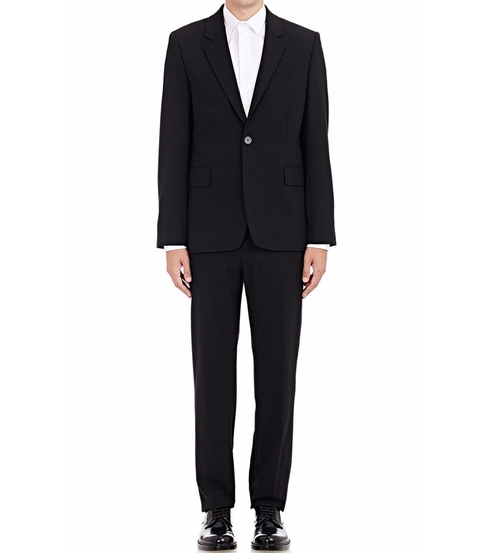 Lana Two-Button Suit by Ann Demeulemeester in The Infiltrator