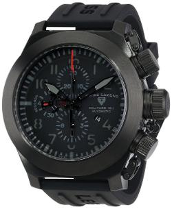 Men's Automatic Chronograph Black Rubber Watch by Swiss Legend in A Good Day to Die Hard