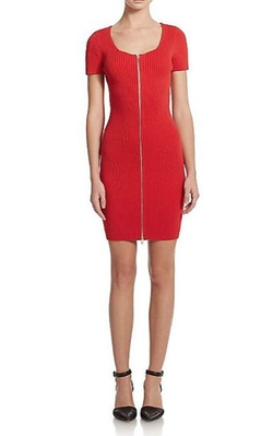 Ribbed Zip-Front Dress by T By Alexander Wang in The Good Wife