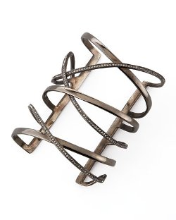 Gemma Crisscross Gunmetal Cuff by Paige Novick in The Gambler