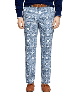 Clark Fit Nautical Print Pants by Brooks Brothers in Mike and Dave Need Wedding Dates