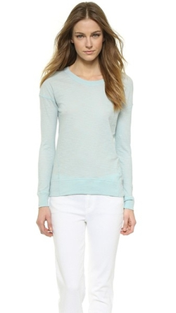 Long Sleeve Crew Tee Shirt by Vince in Sicario