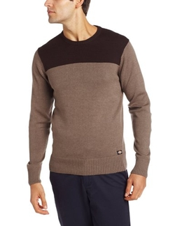 Men's Benny Colorblock Crew Neck Sweater by Dickie's in Daddy's Home