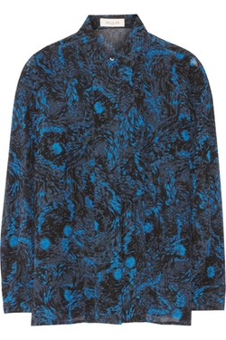 Houleux Printed Silk-Georgette Blouse by Paul & Joe in House of Cards