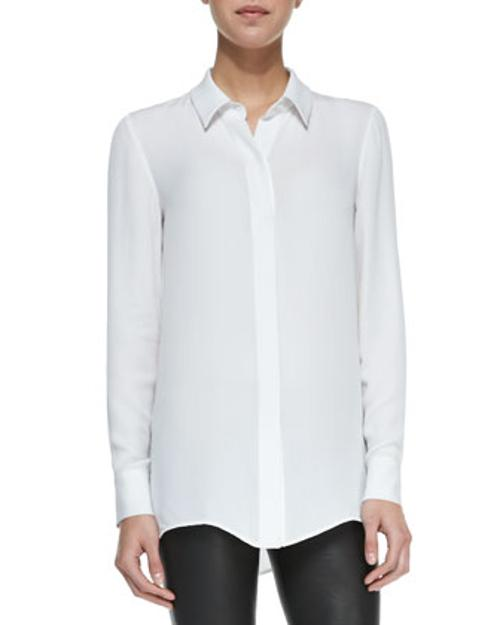 Classic Long-Sleeve Silk Blouse by Vince in The Other Woman