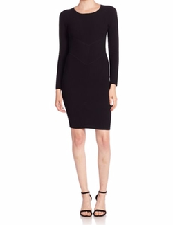 Ribbed Long Sleeve Sheath Dress by Milly in Suits