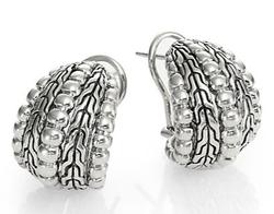 Bedeg Sterling Silver Buddha Belly Earrings by John Hardy in Suits