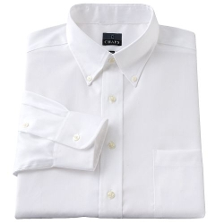 Solid Button-Down Collar Dress Shirt by Chaps in Max