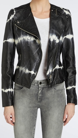 Tie-Dye Faux Leather Moto Jacket by Blank NYC in Pretty Little Liars