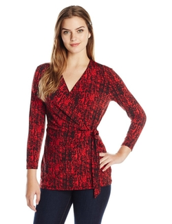 Women's Printed Wrap Top by Anne Klein in Bad Moms