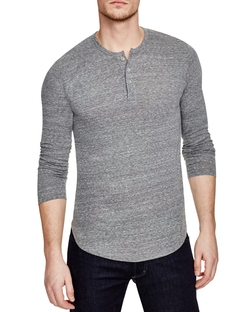 Long Sleeve Henley Shirt by Goodlife in Arrow