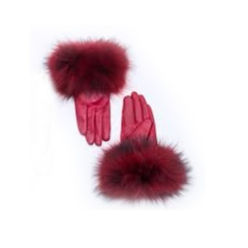 Custom Leather Gloves with Fur Trim by Ruti Horn in Scream Queens