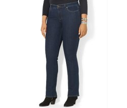 Plus Size Curvy Straight-Leg Jeans by Lauren Jeans Co. in Pitch Perfect 2