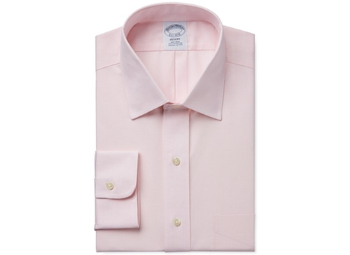 Slim-Fit Non-Iron Pinpoint Solid Dress Shirt by Brooks Brothers in Ride Along 2