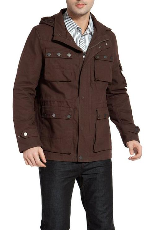 Men's 'Terrain' Hooded Field Jacket by BGSD in The Hundred-Foot Journey