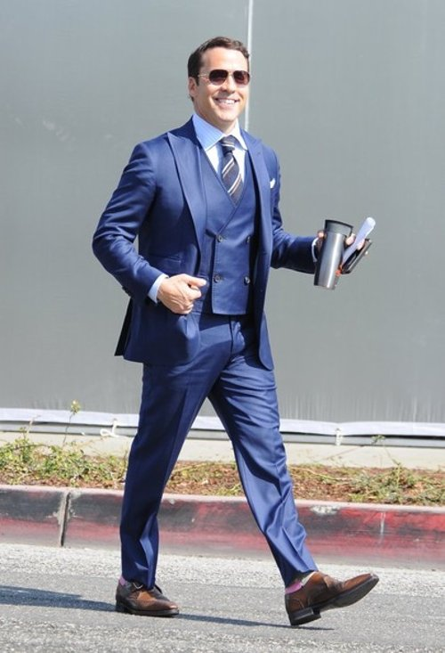 Custom Made Three Piece Suit by Olivia Miles (Costume Designer) and Domenico Vacca in Entourage