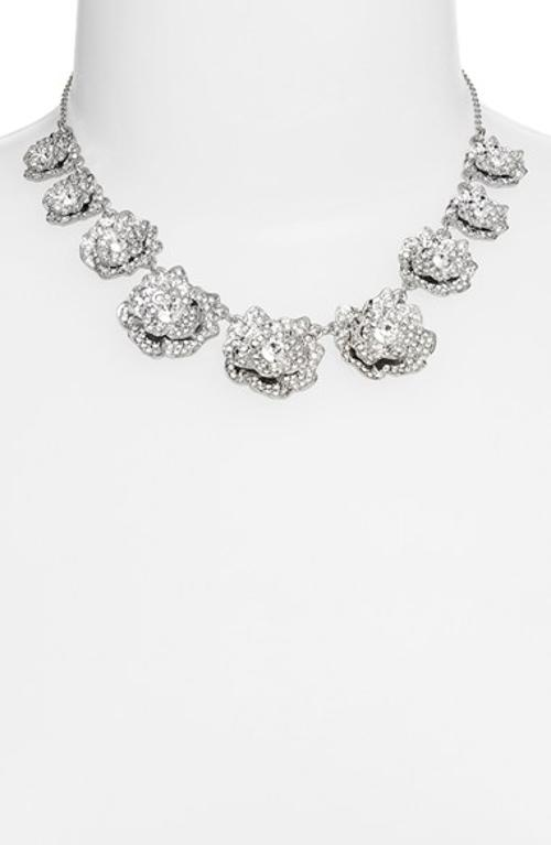 'rose garden' crystal collar necklace by kate spade new york in Jersey Boys