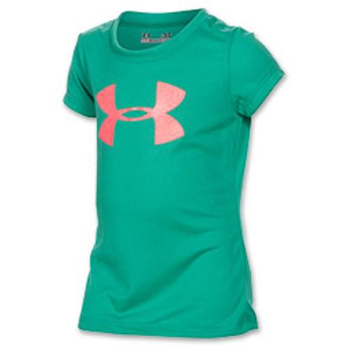 Girls' Toddler Under Armour Big Glitter Logo T-Shirt by Under Armour in Neighbors