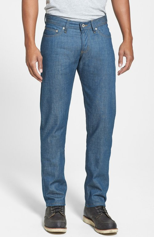 'Weird Guy' Slim Fit Raw Jeans by Naked & Famous Denim in Anchorman 2: The Legend Continues