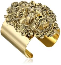 Lion Head Gold-Plated Cuff Bracelet by Yochi in Pretty Little Liars