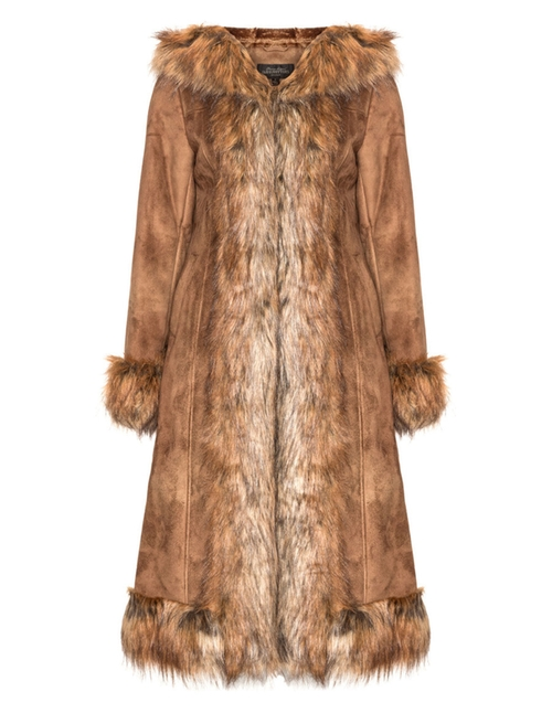 Faux Suede And Fur Coat by Fabulous Furs in Jessica Jones - Season 1 Episode 2