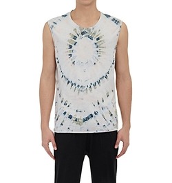 Tie Dyed Muscle T-Shirt by Raquel Allegra in Empire