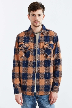Rampart Flannel Woven Button-Down Shirt by Obey in The Gift