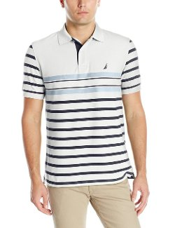 Men's Multi Stripe Polo Shirt by Nautica in McFarland, USA