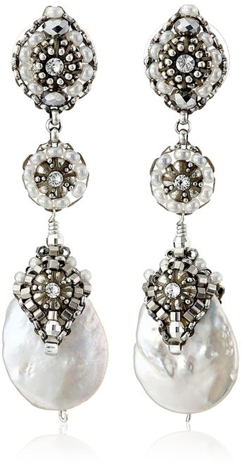 Pearl Briolette Sterling Silver Earrings by Miguel Ases in Pretty Little Liars