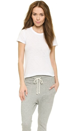 Sheer Slub Crew Neck Tee Shirt by James Perse in Love & Mercy