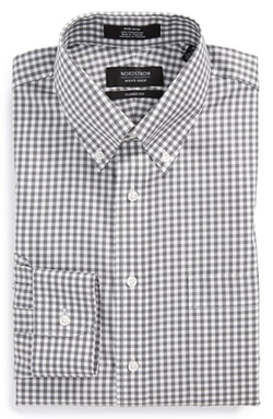 Non-Iron Classic Fit Gingham Dress Shirt by Nordstrom in Spotlight
