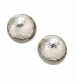 Glamazon Sterling Silver Button Earrings by Ippolita in Guilt