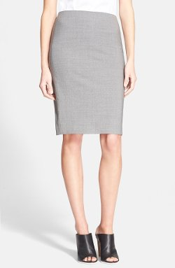 Stretch Wool Pencil Skirt by Theory in The Best of Me