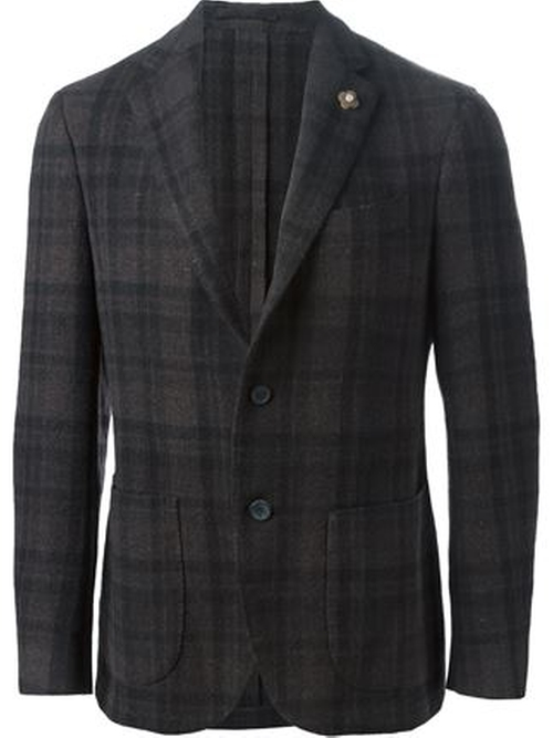 Plaid Blazer by Lardini in Demolition